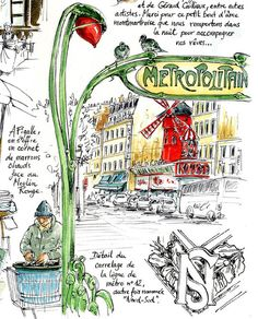 Paris by watercolor pen ink on pinterest paris for Carnet de voyage paris