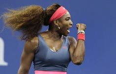 Serena Williams, of the United States, pumps her fist after winning a point against Francesca Schiavone, of Italy, during the first round of the 2013 U.S. Open tennis tournament, Monday, Aug. 26, 2013, in New York. (AP Photo/Charles Krupa) Next