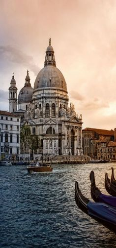 Santa Maria della Salute from San Marco in the evening, San Marco, Venice, Italy by Zú Sánchez