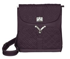 Travelon AntiTheft Signature Messenger Bag Eggplant  42769130 >>> See this great product. Note:It is Affiliate Link to Amazon.