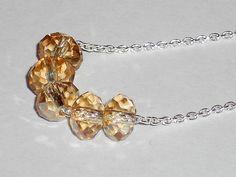 Swarovski crystal necklace Carrie necklace by SilverIrisJewelry