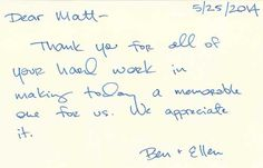 Great To Hear Our Clients Loved Working With Us  Thank You Notes