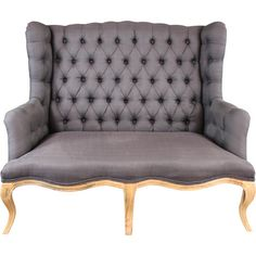 Beautiful grey linen tufted sofa