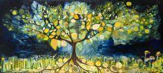 Lemon Tree large stretched canvas print by Eli Halpin