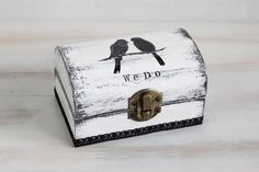 Ring Bearer Box Wedding Ring Box White Ring by MyHouseOfDreams