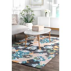 This hand-tufted area rug features a contemporary design and is a wonderful and rich centerpiece for any room setting. Size: 2' 6\ x 8'. Color: Blue. Boho Chic Bedroom, Modern Bedroom Decor, Contemporary Home Decor, Modern Decor, Living Room Decor, Contemporary Design, Bathroom Modern, Modern Rugs, Area Rug Sizes