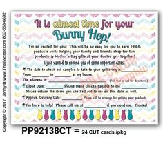 PP92138CT -*wp- Bunny Hop DATES for Host TEXT POSTCARDS -24