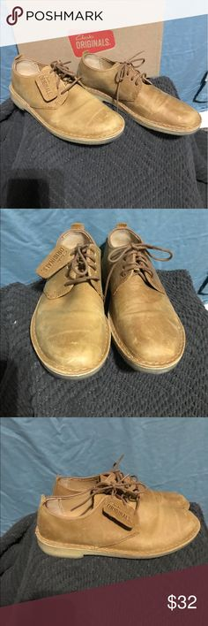 Clarks desert London Clarks desert London in the mustard color with crepe bottoms. In great condition only worn a couple times. Clarks Shoes Chukka Boots