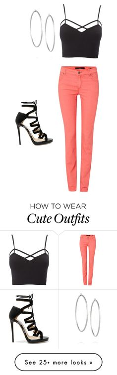 """""""Cute summer outfit"""" by chm011704 on Polyvore featuring Charlotte Russe, Oui, Jimmy Choo, Jennifer Fisher and plus size clothing"""