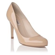 54de3b09 LK Bennett Shoes | Lk Bennett Stila Patent Leather Heals | Color: Cream/Tan  | Size: 7.5
