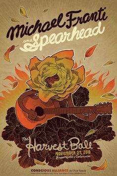 Josh Holland, Gig Poster Michael Franti & the Spearheads