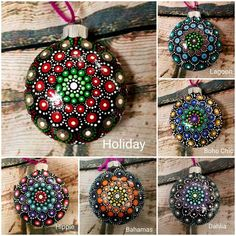 1 million+ Stunning Free Images to Use Anywhere Painted Christmas Ornaments, Hand Painted Ornaments, How To Make Ornaments, Christmas Decorations To Make, Dot Art Painting, Mandala Painting, Mandala Canvas, Stone Painting, Christmas Mandala