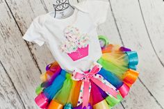 Baby Girl 1st Birthday Cupcake Shirt w/ by OneLovelyLittleLady, $20.00