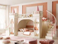 Cameretta principessa a forma di castello, quale bambina non la sognerebbe?