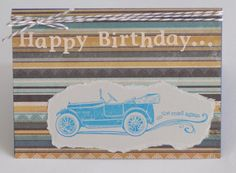 Vintage Car Card Happy Birthday Old Timer by CardsbyJeweleighaB, $3.50