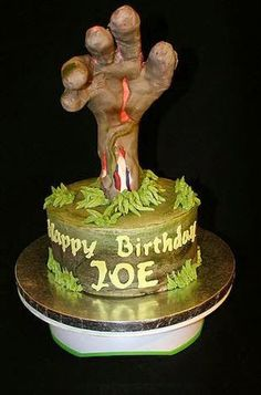 50 Best Zombie Birthday Cakes Ideas And Designs Zombie Birthday Cakes, 10th Birthday Parties, Birthday Ideas, 3rd Birthday, Teen Cakes, Soap Cake, Best Zombie, Zombie Party, Fashion Cakes