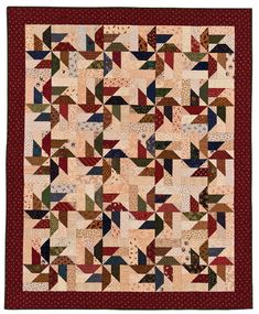 Scrap-Basket Surprises by Martingale/That Patchwork Place Pinwheel Quilt Pattern, Jelly Roll Quilt Patterns, Quilt Block Patterns, Quilt Blocks, Star Blocks, Star Patterns, Colchas Quilting, Quilting Projects, Quilting Designs