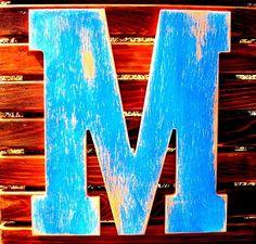 handmade letter 'm'