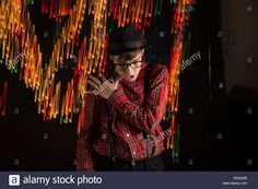 Download this stock image: Teen is Swirling LIghts - EEW02B from Alamy's library of millions of high resolution stock photos, illustrations and vectors.
