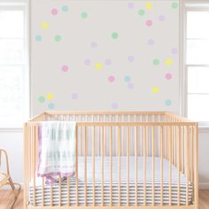 Confetti decals - Nursery Wall Decal. Confetti Decal. Dot decal. Wall Decal Nursery. Baby decal. Wall Pattern polka dot decals pastel dots by RockyMountainDecals on Etsy https://www.etsy.com/no-en/listing/268063313/confetti-decals-nursery-wall-decal