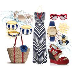 Variegated Maxi Dress