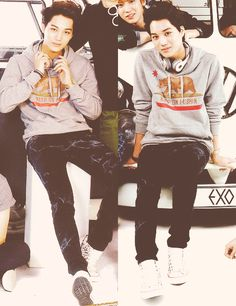 """My mom saw this on my Pinterest and said """"Your kpop people wear California sweaters?"""" And I'm like what because I hadn't noticed she showed me and I said """"oh yeah that's Kai he has a California sweater in this picture apparently"""""""