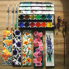 New bookmarks. Flowers design