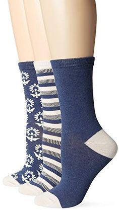 Lucky Women's Crew Sock Gift Box 3-pack, Denim Blue, 9-11 (Pack of 3) Lucky Brand http://www.amazon.com/dp/B0132HRU2S/ref=cm_sw_r_pi_dp_hvJswb1X3FQX4