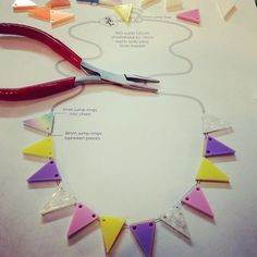 We love zolington's (IG) Bunting Necklace colourway inspired by mini eggs!