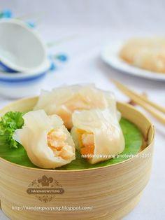 nandangwuyung: HAKAU UDANG ala NANDANGWUYUNG Shrimp Dumplings, Dim Sum, Cantaloupe, Frozen, Food And Drink, Menu, Baking, Fruit, Breakfast