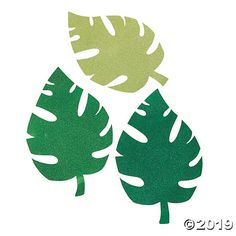 Make your next luau look unbe-leaf-able! A glittery and glamorous addition to party décor, these wall accents come designed to look like large pa. Pom Pom Decorations, Hawaiian Party Decorations, Mylar Balloons, Latex Balloons, Diy Photo Booth Backdrop, Leaf Cutout, Animal Cutouts, Cricut, Paper Animals