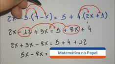 Equação do 1° grau com parênteses Professor, Travel, Clothes, Ideas, Pageants, Avengers Quotes, Math Lessons, Teaching Math, Study Tips
