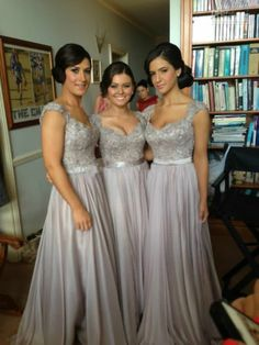 BETTIE _ ACTUALLY FOR SALE - Custom made 2014 New Big Discount cap sleeve long Bridesmaid Dresses formal dres