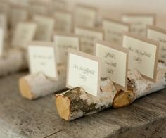 Rustic table placement cards