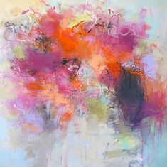 Flourish 36x36 acrylic on canvas Debora Stewart