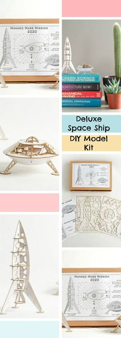 Love to build models, want to learn? Now you can with this deluxe space ship DIY model kit. #diy #space #model #kit #afflink