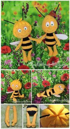 Maya bee and her friend Willie Amigurumi
