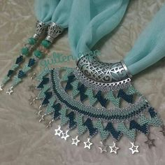 Needle lace, one of the most preferred traditional embroidery, continues to be transferred to future Knitted Poncho, Knitted Shawls, Knit Shoes, Scarf Jewelry, Needle Lace, Sweater Design, Knitting Socks, Sun Hats, Hand Embroidery
