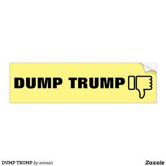 DUMP TRUMP BUMPER STICKER #dumptrump #nevertrump #anyonebuttrump