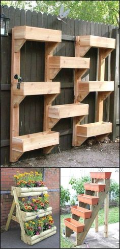Whether you are an apartment dweller have a small back yard or just want to maximise your growing space vertical gardens are both beautiful and practical Vertical planter. Plantador Vertical, Jardim Vertical Diy, Vertical Planter, Raised Planter, Vertical Vegetable Gardens, Vertical Garden Diy, Vegetable Gardening, Hydroponic Gardening, Garden Compost