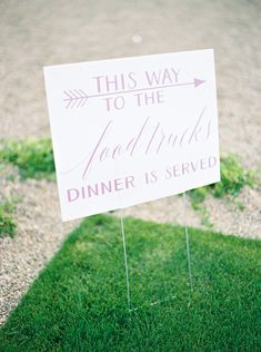 wedding signage for food truck dinner - Melissa Jill Photography