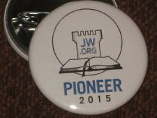 "JW.org Pioneer 2015  Pin Button Set of 10 Round Pins 1 1/2"" Size"