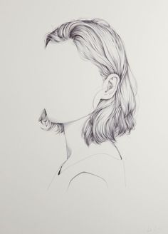 Drawing Faces Portraits With Missing Faces By Henrietta Harris – iGNANT.de - New Zealand artist and illustrator Henrietta Harris created a series of unfinished portraits featuring subjects whose faces are missing. Working with fine, clean lines and. Art Inspo, Kunst Inspo, Pencil Art, Pencil Drawings, Art Drawings, Drawing Portraits, Drawing Faces, Horse Drawings, Happy Face Drawing