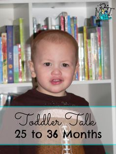 Month to Month Guide to Baby Babble and Toddler Talk! 25 to 36 Months