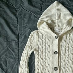 Aeropostale cardigan Cream and silver colored knit cardigan. Good condition. Aeropostale Sweaters Cardigans