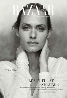 Harper's Bazaar Beauty UK April 2014 | Amber Valetta byr Peter Lindbergh