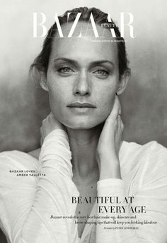 Harper's Bazaar Beauty UK April 2014 | Amber Valetta byr Peter Lindbergh