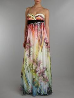 Planet brushstroke print maxi dress