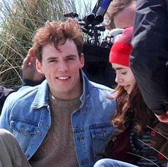 love rosie lily collins  | ... Sam Claflin and Lily Collins on the 'Love, Rosie' Set - May 23, 2013