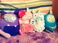 Handmade Stuffed Monsters